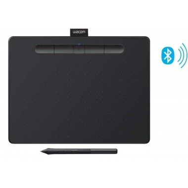 "Wacom Intuos Wireless Graphics Drawing Tablet with 3 Bonus Software Included, 10.4"" X 7.8"", Pistachio & Black (CTL6100WLK0)"