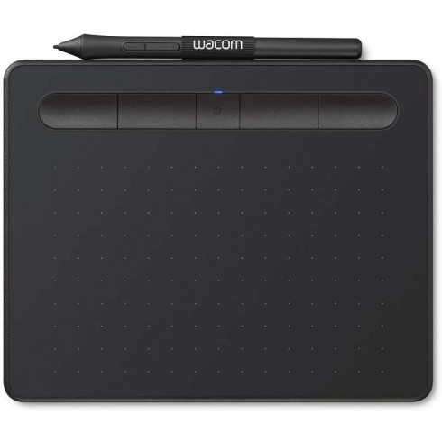 """Wacom Intuos Wireless Graphics Drawing Tablet with 2 Bonus Software Included, 7.9"""" X 6.3"""", Black& Pistachio (CTL4100WLK0)"""
